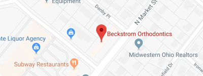 Map Beckstrom Orthodontics Vandalia Troy OH